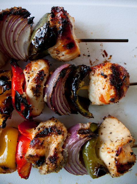 Grilled Chicken Kabobs with Easy Lemon Orange Marinade! This citrus marinade recipe is a go-to for spring and summer!