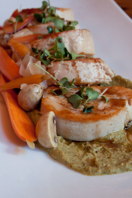 seared turkey galantine