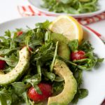 Arugula Avocado Salad Recipe with Bright Lemon Vinaigrette - 170 calories!
