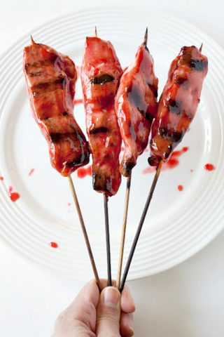 Asian Glazed Chicken Skewers