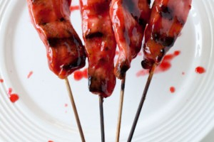 Asian Grilled and Glazed Chicken Skewers
