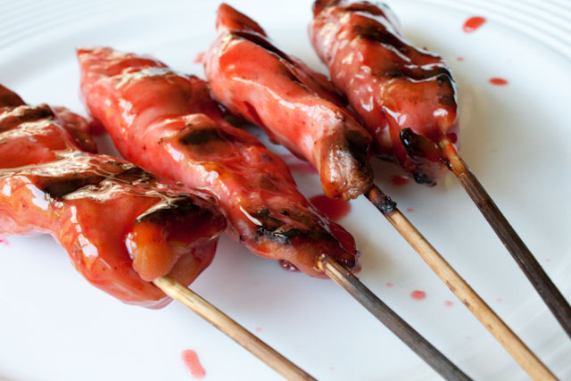 Asian Grilled and Glazed Chicken Skewers | Can You Stay For Dinner?