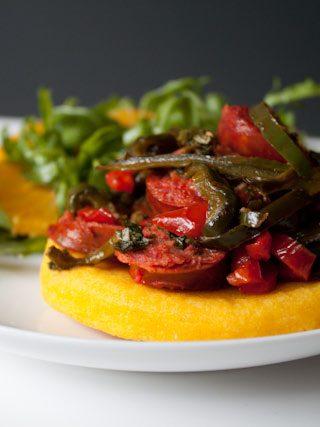 Chorizo Arepas with Arugula Orange Salad and Blue Apron Review