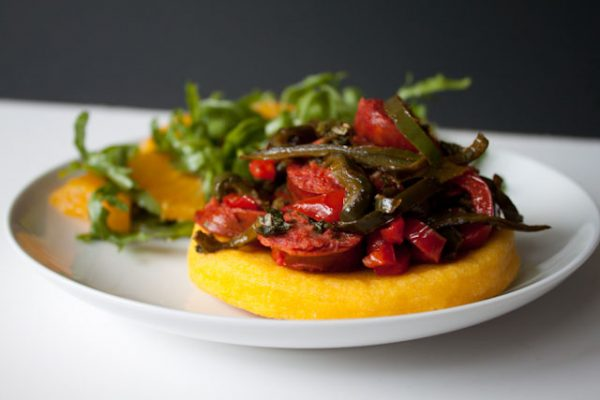 Chorizo Arepas with Arugula Orange Salad and Blue Apron Review