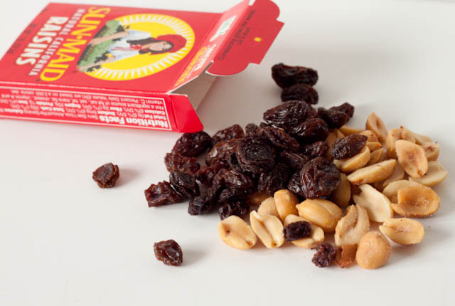 peanuts and raisins