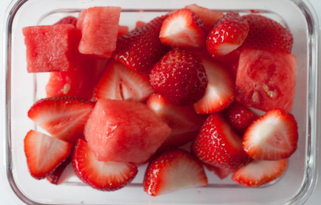 strawberries and watermelon