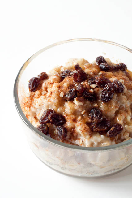 cinnamon raisin oatmeal