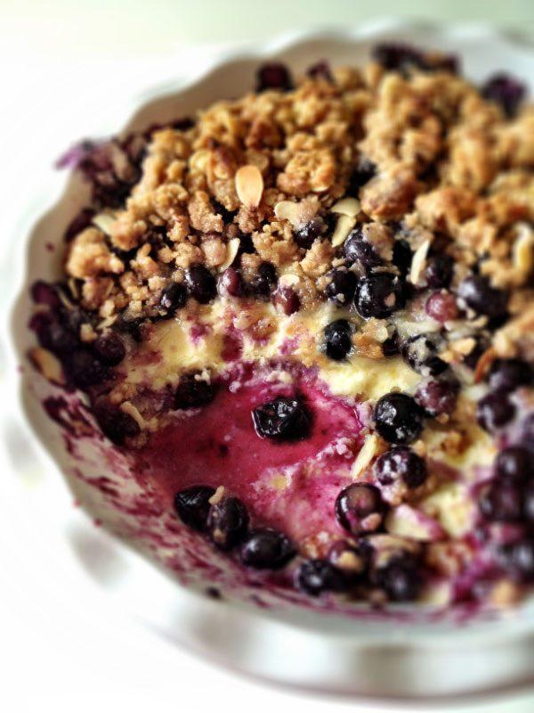 Blueberry Cream Cheese Crisp