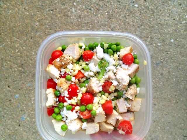 cooked veggie salad
