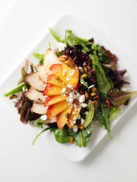 pistachio peach salad