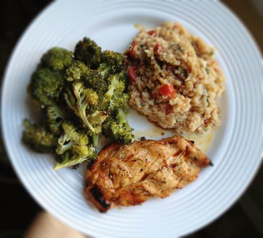 Chicken Sausage, Broccoli And Parmesan Brown Rice Dinner ...