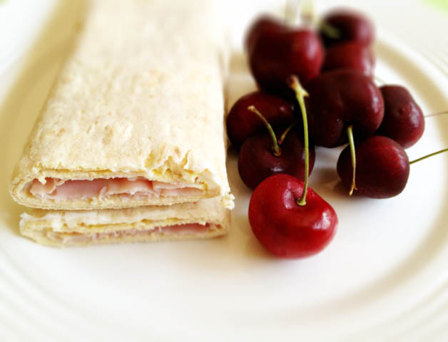 ham and cheese wrap