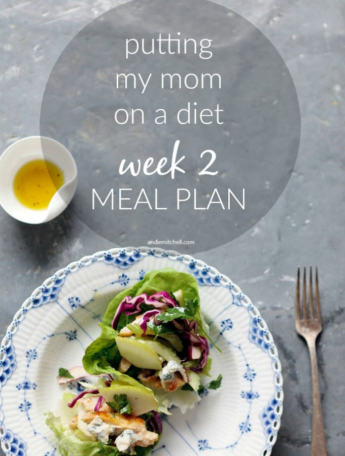 Putting My Mom on a Diet: Week 2 Meal Plan and Weigh In