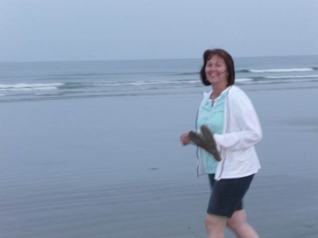 Mom on the beach