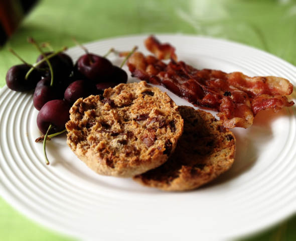bacon and english muffin