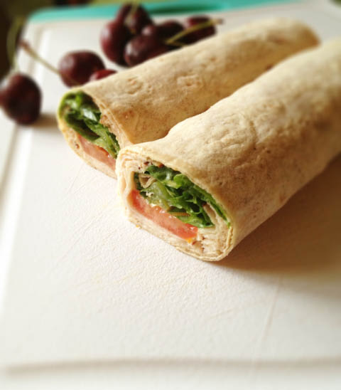 turkey lettuce tomato wrap