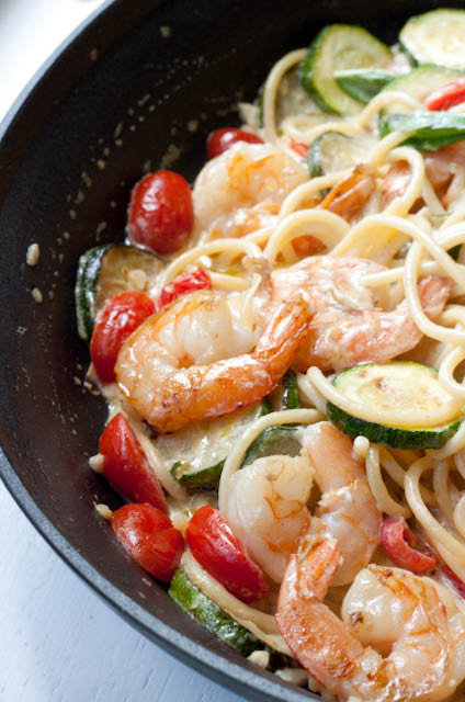 20 minute creamy shrimp pasta
