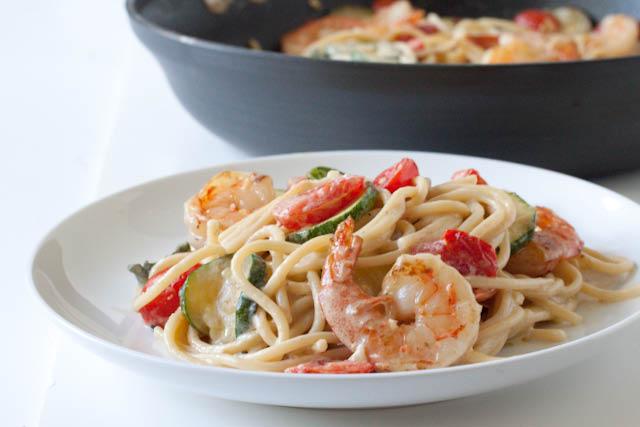 20 minute creamy shrimp pasta