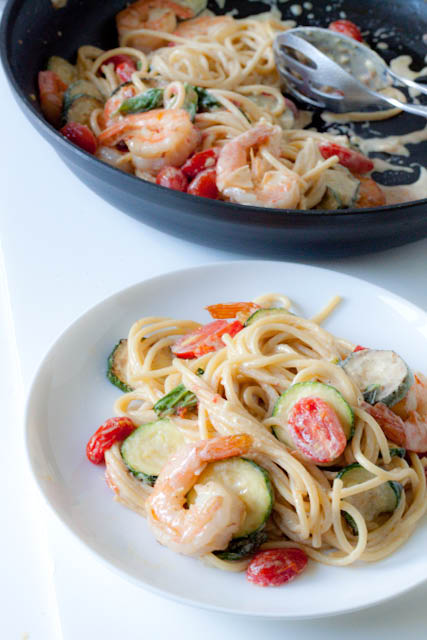 20-minute creamy shrimp pasta