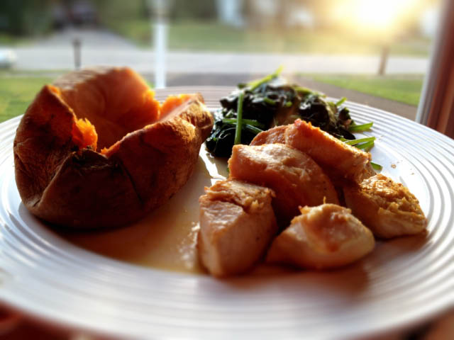 sauteed chicken and sweet potato