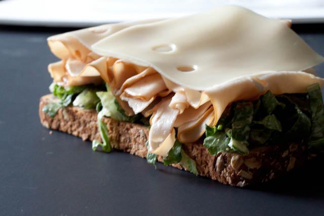 Open-Faced Cheesy Chicken Caesar Sandwich