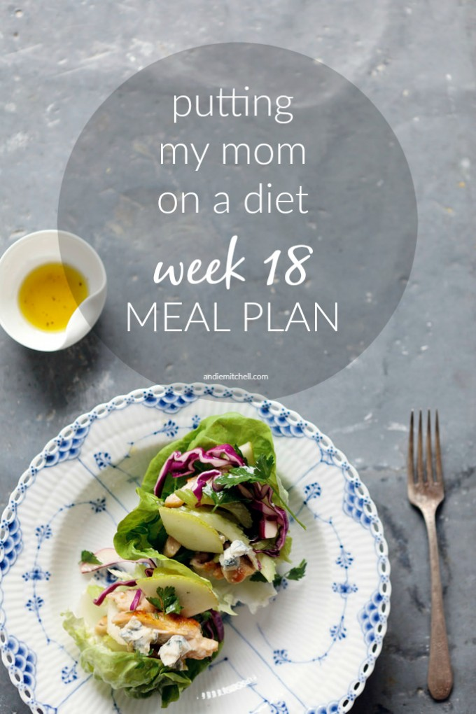 Putting My Mom on a Diet: Meal Plan Week 18 #weightloss #motivation | AndieMitchell.com