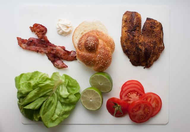 cajun tilapia sandwich