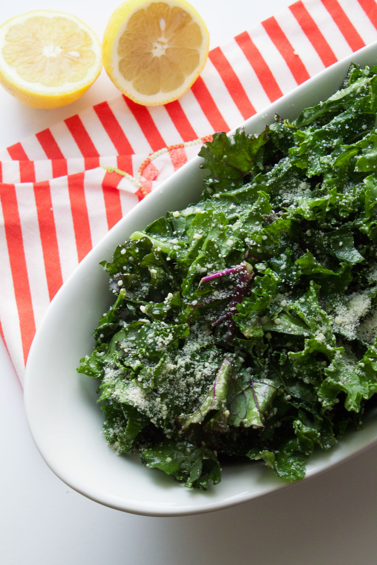 Easy No-Massage Kale Caesar Salad
