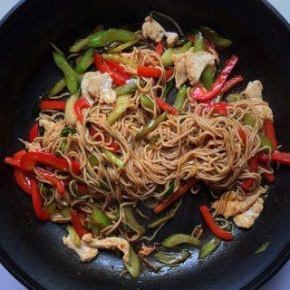 easy healthy chicken lo mein 250 calories
