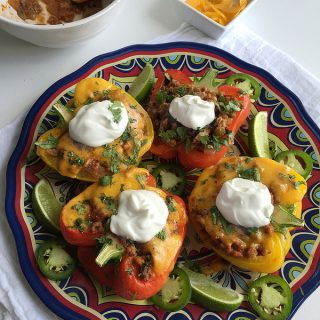 healthy mexican stuffed peppers with ground turkey without rice