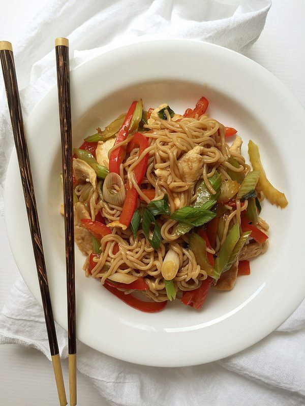 Easy Healthy Chicken Lo Mein Under 250 Calories