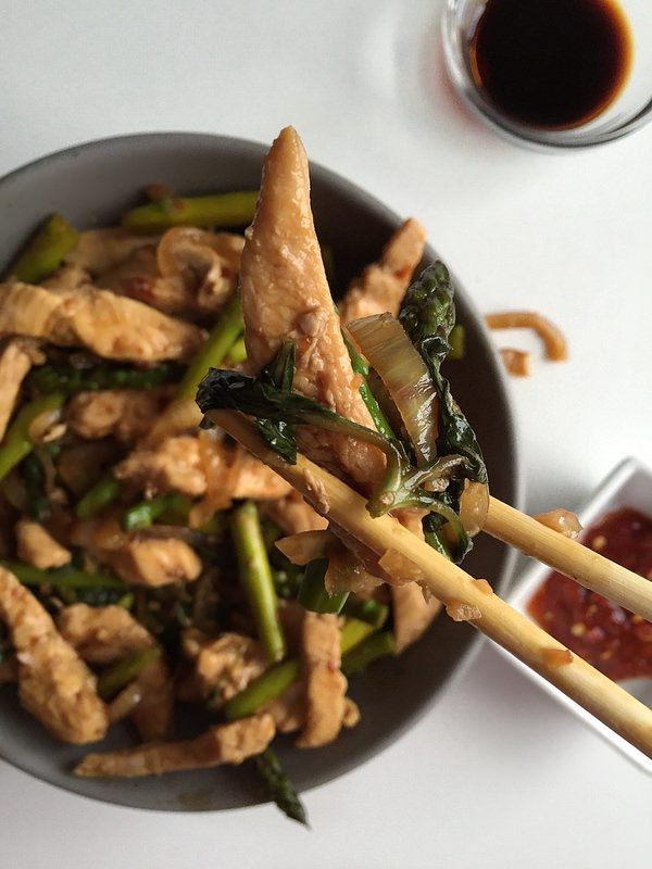 Spicy Basil Chicken Stir Fry