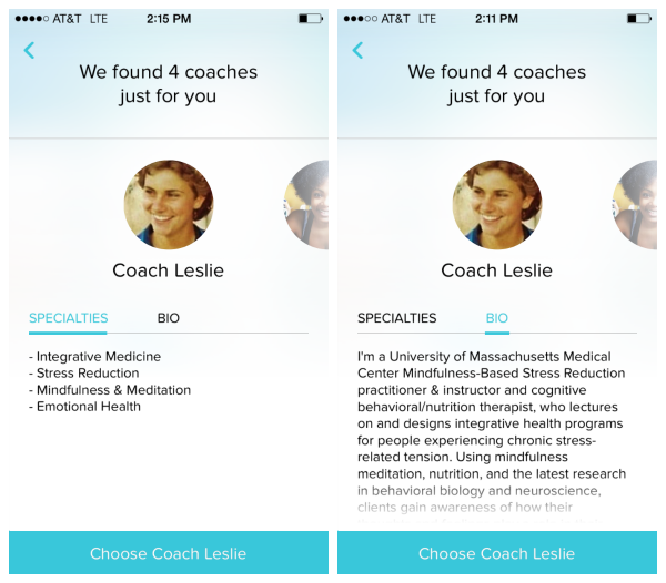 choosing your coach on vida