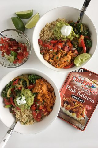 Barbecue Salmon Burrito Bowl