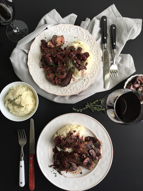 Beef with Red Wine Mushroom Sauce - an easy to prepare beef recipe ...