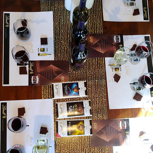Lindt chocolate and wine pairing party!