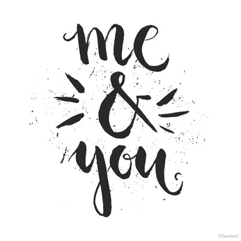 Me and You Typography