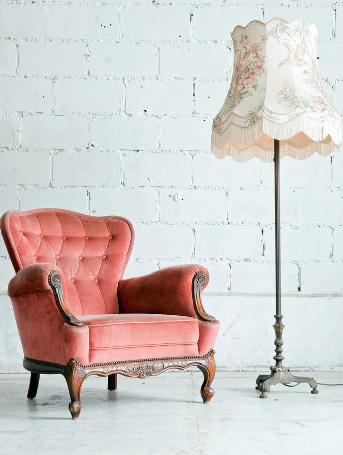 pink vintage armchair