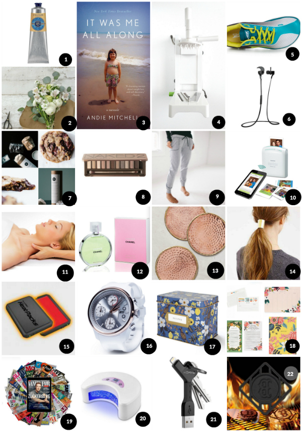 Andie Mitchell's Holiday Gift Guide 2015! Gifts for everyone you know and love - food gifts, cooking gifts, books, and more! Read more on AndieMitchell.com