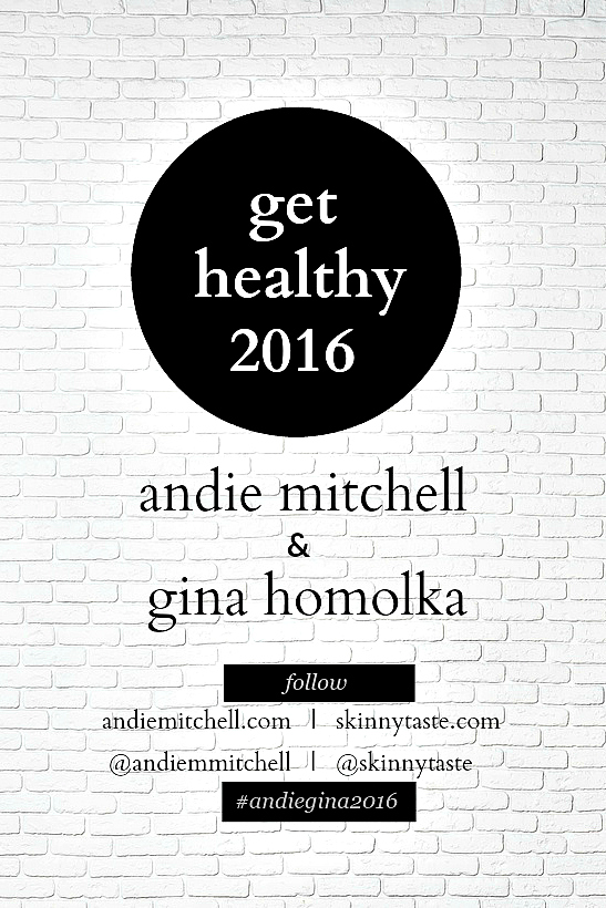 Get Healthy with Andie Mitchell and Gina Homolka!