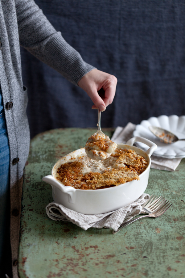 Eating in the Middle - A Mostly Wholesome Cookbook by Andie Mitchell - low calorie / healthy recipes with big flavor like this baked gnocchi and cheese