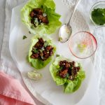 Cashew Basil Chicken Lettuce Wraps Recipe - seriously the best Asian lettuce wrap recipe around - from Eating in the Middle: A Mostly Wholesome Cookbook by Andie Mitchell