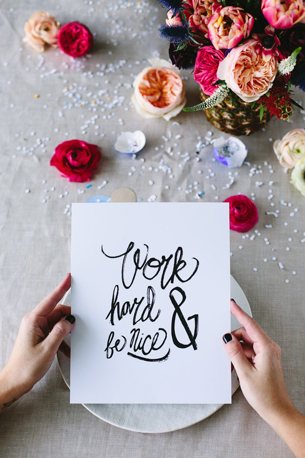 Work Hard and Be Nice by Mary Costa Photography, A Blog Named Scout