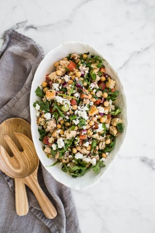 Panzanella Salad with Chickpeas and Feta