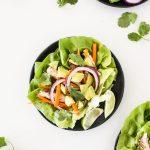 Jerk Chicken Lettuce Wraps Recipe