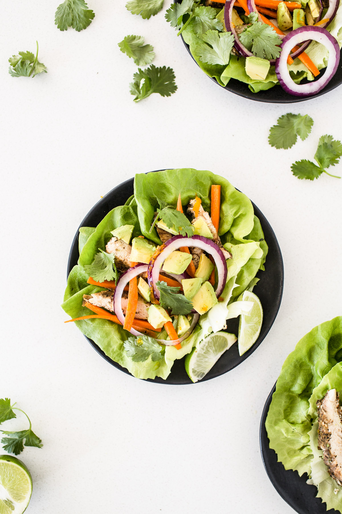 Jerk Chicken Lettuce Wraps
