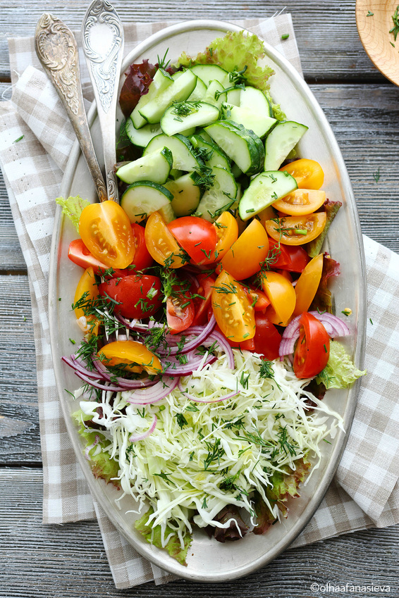 summer salad, photography