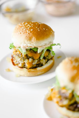 Homemade In-N-Out Burger Recipe with Lighter Secret Spread