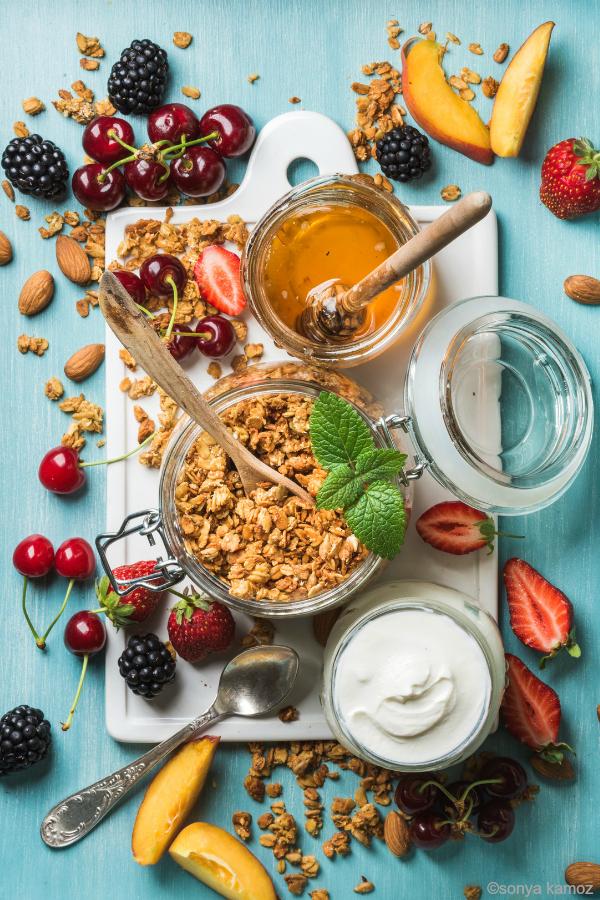 breakfast granola - photo by sonya kamoz