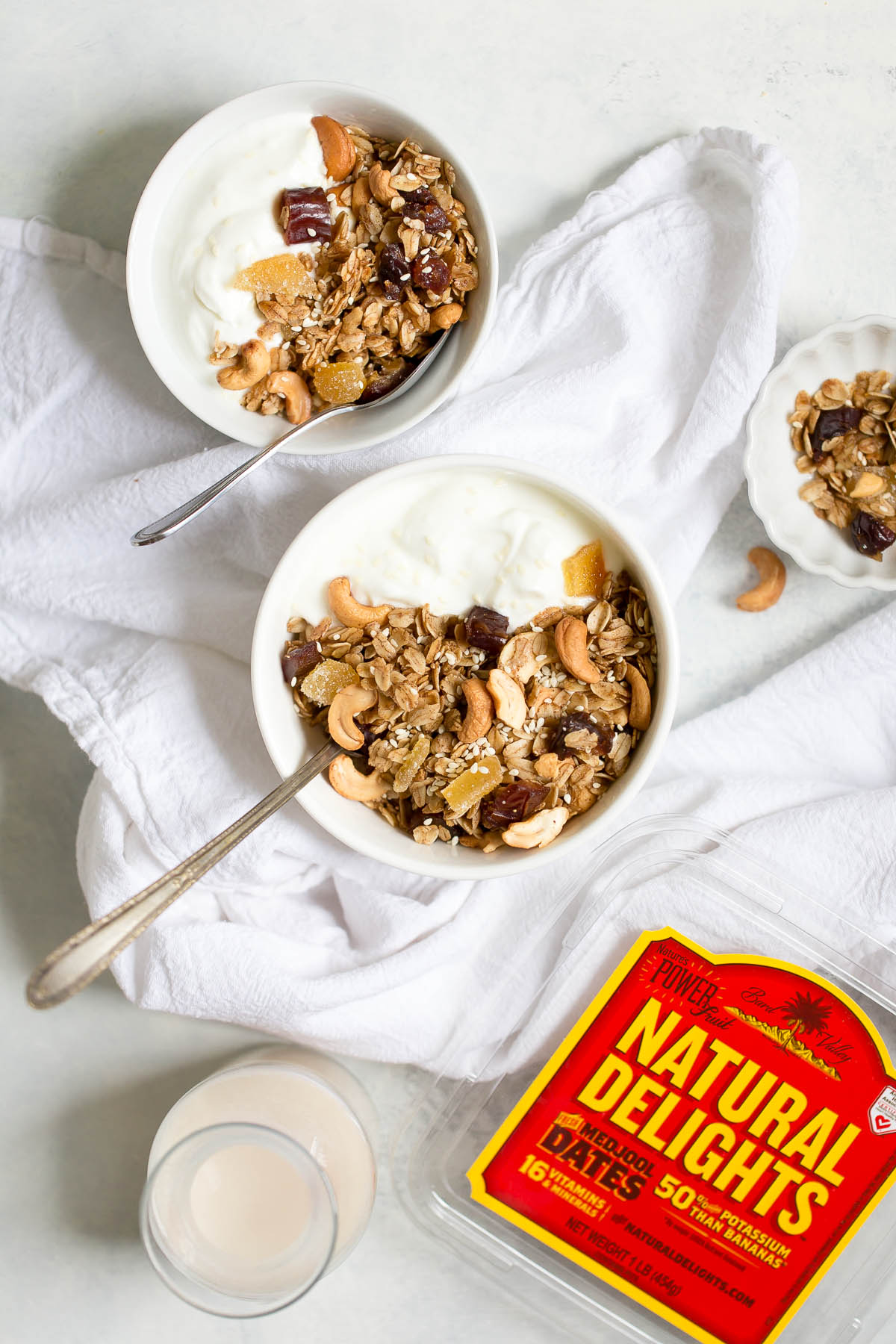 Cashew Ginger Granola with Dates and Sesame Seeds
